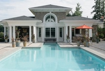 Home Plans with Pools / These house designs with pools will have you yearning for sunny days all year long! Find the perfect swimming pool for your home design and make a splash with your pool design.