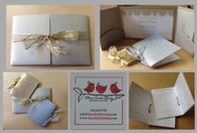 Wedding Sets / Beautiful wedding invitations paired with matching programs, save the dates, place cards, etc.