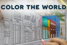 Color the World / Travel. Coloring. Combining the Two.