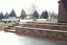Hanover, Pa Retaining Wall, Steps, & Walkway Installation. / Weather your in the market for a new look or just trying to update that non-function-able walkway, maintenance causing deck, or porch, the experts Ryan's Landscaping can design and build the latest trend in hardscaping systems of your dreams.