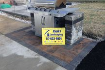 Adams County Built in Grill, Small Outdoor Kitchen - Ryan's Landscaping / Small paver pad & built in grill hardscape installation in New Oxford, Adams County, PA. We can design and install unique hardscape features that will enhance your property's value and take your breath away every time you step outside. There are endless styles, colors, textures, bricks, and retaining wall stone for every project. http://ryanslandscaping.com/services/hardscapes/ (717)632-4074