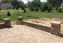 Hanover Paver Patio Outdoor Living Spaces / Ryan's Landscaping specializes in outdoor patios with unique and artistic designs, that add function and value to your home. www.ryanslandscaping.com