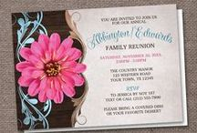 Family Reunions / A board with invitations and ideas for planning your annual Family Reunions.