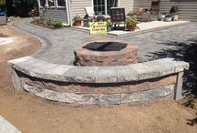 Hanover, Pa Backyard Retaining Wall & Patio Hardscape / From Retaining Walls to Patios, Landscapes to Ponds. Ryan's Landscaping is Hanover, Pa's premiere landscape & hardscape contractor. Specializing in retaining walls, patios, fire pits, & other outdoor living hardscape features.   / by RYAN'S LANDSCAPING