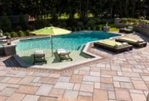 Patio Designs & Paver Ideas / Collection of various patio designs & paver ideas. You want it, we can install it. www.ryanslandscaping.com  (717)632-4074