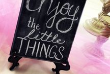 Chalkboard-y things / by Billie Gentry