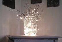 "Indoor Spaces Aglow / Skip the lamps, add string lights for a whole new affect.  Use LED and save energy!  For more great indoor ideas, check out our ""Brighten Your Bedroom"" board too! / by PartyLights.com"