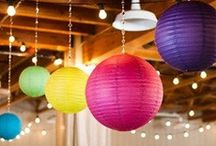 Lovely Lanterns / Paper lanterns are so versatile.  With 60+ colors and various sizes and shapes available at PartyLights.com, you're sure to match any decor/event. Check out our Lantern shop and let your mind go crazy with ideas: http://www.partylights.com/Lanterns / by PartyLights.com