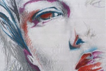 My Style / pencil drawings and pastels, very fast!
