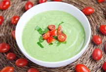 Cucumber Avocado Gazpacho / You will find this cool and creamy cucumber avocado soup refreshing on a hot summer day. I've been drinking it all weekend and experimenting with it along the way. For more visit http://bestlifeblueprint.bizblueprint.com/healthy-recipies/cucumber-avocado-gazpacho