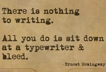 Writings/Literary Nerdiness / Inspiration for writing