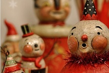 Vintage Snowmen / Snowmen are one of my favorite things at Christmas, they just make you happy! / by Mary Box