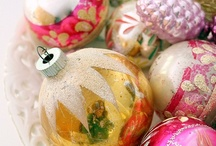 Vintage Christmas ornaments / by Mary Box