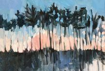 Painting Trees and Light / Paintings by Domenica Brockman, available at Artfinder.com