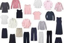 Capsule Wardrobes / Pink, white, navy, grey, and black. / by Sarah Randt