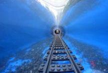 Underwater lego train / Underwater lego Train. Model Train Garden project.
