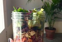 Salad Jars and Lunchs to go / Recipes ideas for  delicious lunchs to go in Le Parfait jars