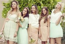 Mint/pink wedding