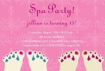 Fabulous Spa Party Invitations