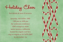 Candy Cane Party Invitations