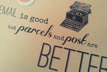 Correspondingly Cool / Letters, parcels, mail & postage. Sweet joys in life!
