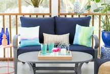 Porch and Patio / Porch, sunroom, and patio decorating ideas to spruce up your outdoor living space.