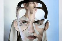   Collages   / Art-Mixed Media, Geometric shapes. #mixedmedia #collages  / by Basia Pe
