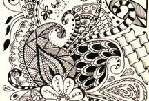 Zentangle® / The Zentangle® Method was created by Rick Roberts and Maria Thomas and is copyrighted. Zentangle® is a registered trademark of Zentangle, Inc. Learn more at http://www.zentangle.com. / by Alphabet Salad Productions