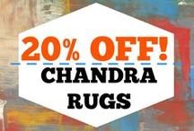 Chandra Hand Crafted Rugs / Stop by and see our Chandra rug samples; we can help pull your room together!