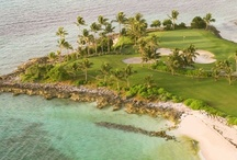 Tee Off at Ocean Club Golf Course / Guests of Atlantis, Paradise Island can enjoy invigorating play and spectacular Caribbean ocean views at the Ocean Club Golf Course, an 18-hole, par 72 championship course, designed by Tom Weiskopf. / by Atlantis