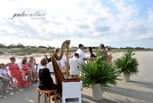 Beach Wedding-Jekyll Island Club / Jekyll's beach is magnificent any season. The hotel's Beach Pavilion, a spacious open-air structure, accommodates 60 people for dinner and 150 for a seaside reception. The beauty of the sea and the sound of the surf provide an exceptional setting for non-traditional, alfresco wedding events or rehearsal dinners.