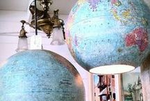maps & globes / by loretta jean