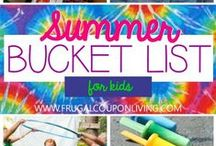 Summer Activities for Kids / Activities for the little ones to keep them laughing, learning and having fun while school is out.