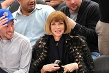 Anna Wintour - Queen of Vogue... / Anna Wintour, OBE (born 3 November 1949) is the English editor-in-chief of American Vogue, a position she has held since 1988. In 2013, she became artistic director for Condé Nast, Vogue's publisher. With her trademark pageboy bob haircut and sunglasses, Wintour has become an important figure in much of the fashion world, widely praised for her eye for fashion trends and her support for younger designers.  / by Sara McKinstry Meredith-Young