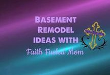 Basement Remodel Ideas: Faith Fueled Mom / Ideas for a semi finished low ceiling basement