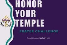 Honor Your Temple Prayer Challenge / 30 Day Prayer Challenge to focus on Honoring Your Temple and give you tools in prayer to change bad habits and live a healthier more soul-filling life.