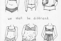 Body Positivity & Confidence / Embrane and love your body, be more positie and confident.
