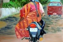 Oil Paintings by Sandhya Manne / Most of these Oil paintings are small everyday paintings, that I create from my home studio in India.
