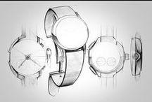 Industrial design sketches