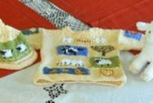 my knitted, neddle felted, felt, and other creations / some are my own designs some are not / by Christine Sydnor