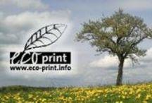"""Eco-Print = ökologisch + günstig + grün drucken / Unter """"eco-print"""" verstehen wir die Kombination sämtlicher am Markt existierenden Möglichkeiten zur nachhaltigen und kostensparenden Druckproduktion. Dabei werden alle umweltrelevanten Aspekte berücksichtigt: Druckfarben, Papier, Energie, Emissionsvermeidung und Klimaschutz. Zudem bieten wir die Aktion """"1 Druckauftrag = 1 Baum""""."""