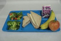 School Lunch - Recipes and Inspirations / Examples of lunches served in school cafeterias around the country - full of fresh fruits, vegetables, whole grains, low-fat and low-sodium foods.
