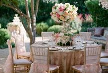 Wedding Reception Spaces. / Beautiful wedding reception spaces and styling.