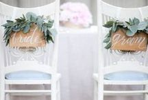 Wedding Bride and Groom Chairs. / You know, those chairs that the bride and groom sit in :)