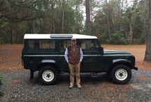 The Defender / Dream come true for The Artist..... The owner of a Defender straight from the U.K.
