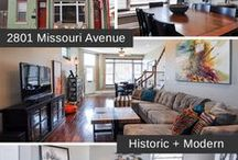2801 Missouri, St. Louis, MO / 3-story Fee Simple Townhome in the heart of Benton Park is MOVE-IN ready and features gorgeous storefront windows and a wide open floor plan. More at http://www.circastl.com/listing/2801-missouri