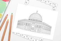 MOSQUE COLOURING PAGES