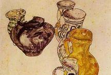 "Signed, Schiele... / ""Art cannot be modern. Art is primordially eternal"" Egon Schiele"