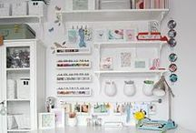 Inspirational organized office styles / I no longer work as a professional organizer, but I still very much appreciate an organized office... or art studio...