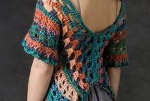 Crochet Clothing / Shirts, Shrugs, Skirts, Shorts, and Slippers. / by Carmen Eller